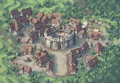 Greybanner 2 Minute Tabletop Fantasy village Fantasy city map Fantasy world map