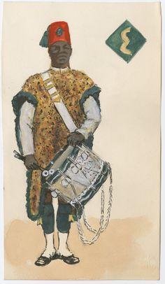 British; 4th Kings African Rifles, Bandsman, 1957 by CCP Lawson
