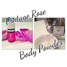 DIY Vintage Rose body powder with healing clay!