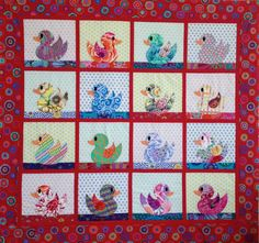 BABY DUCKS QUILT Pattern only by SewColorfulQuilts on Etsy, $10.00
