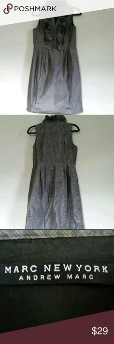 """Marc New York Gray Animal Print Dress Andrew Marc Women's Marc New York Gray Animal Print Sleeveless Side Zip V Neck Size 10 Dress by Andrew Marc.  Gently used with no flaws. See photos for exact details.  Armpit to Armpit: 19"""" Length: 36""""   Due to computer monitor and the actual shooting brightness and other reasons, there will be a certain color difference. The size may have 2-3 cm difference due to the manual measurements. Andrew Marc Dresses"""