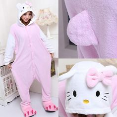 Underwear & Sleepwears Flannel Winter Stitch Pajamas Women Adult Onesie Animal Pajamas One Piece Stich Home Clothing Pyjamas Women Cosplay Homewear Pure Whiteness
