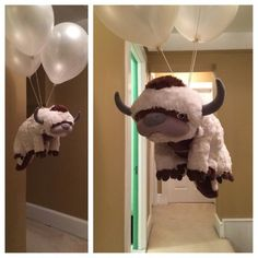 """""""Sky bison with helium balloons. That's my kind of party! I want to be here!!! Avatar nation and Legend of Korra fans unite!"""""""