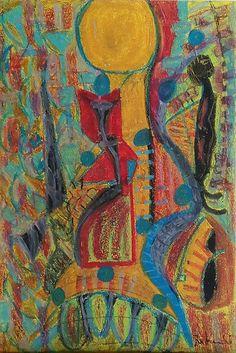 """""""Thelonius"""" Pastelli a olio su carta 33x48"""