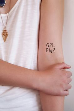 GRL PWR temporary tattoo