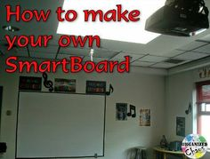 Organized Chaos: Teacher Tuesday: DIY interactive whiteboard. Make your own Smartboard! This is a great step-by-step tutorial for making your own $50 Smartboard. Links to all the software and materials included. Great for teachers on a tight budget!