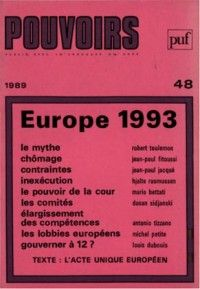 Pouvoirs #48 : Europe 1993