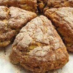 pumpkin scones with cinnamon-sugar