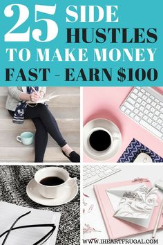 Do you need to make money fast? Here are 25 Side hustle ideas to earn extra cash! Whether it is making money online or doing a side hustle f. Get Money Now, Ways To Earn Money, Earn Money From Home, Make Money Fast, Earn Money Online, Earning Money, Money Today, Earn Extra Cash, Extra Money