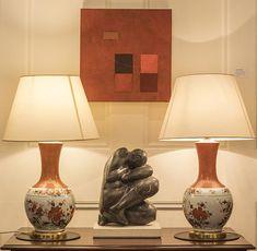 A Pair of Porcelaine de Paris Table Lamps Table Lamps, Antique Furniture, Glass Vase, Antiques, Gallery, Christmas, Home Decor, Antiquities, Xmas