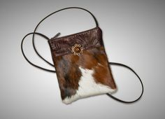 Cowhide & Leather Cross Body Bag by cowhidemirrors on Etsy, $46.00