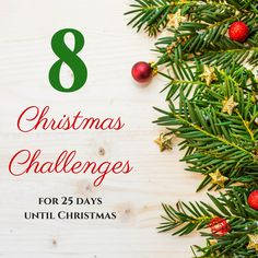 Christmas Challenges for 25 days of Christmas #christmas #challenge #25daysofchristmas