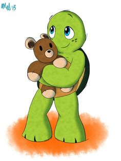 Baby Mikey with his teddy