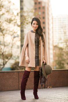 Cape :: ECHO Design  Shoes ::  Joie  Bag :: Sophie Hulme  Accessories :: ECHO Design gloves, ECHO Design scarf, Casio watch, Brandy Pham bracelets, Rag & Bone hat.