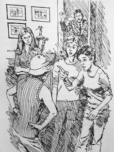 The Haunted Bridge nancy drew illustration Nancy Drew Mystery Stories, Nancy Drew Mysteries, Nancy Drew Books, Nostalgia, Miniatures, Bridge, Prints, Printables, Characters
