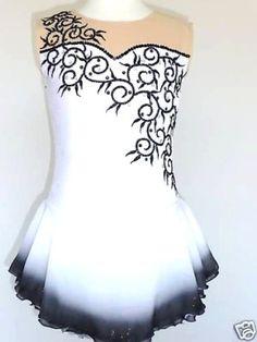 Custom Made to Fit Beautiful Gorgeous Ice Skating Dress | eBay