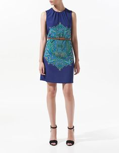 PRINTED CASHMERE DRESS - Dresses - Woman - ZARA United States