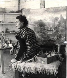 The art studio of Leonora Carrington the British-born surrealist painter who spent most of her life in Mexico City.
