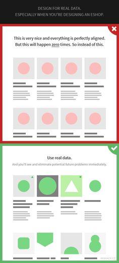 Design for real data. #webdesigntips