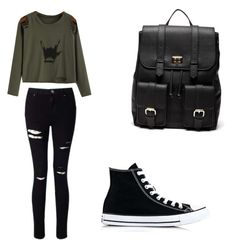 """Untitled #45"" by spikeytwister on Polyvore featuring Miss Selfridge, Sole Society and Converse"