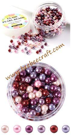 À faire soi-même 400pcs 4 mm mix couleurs Half Round Pearl Bead Flat Back Scrapbook pour Craf