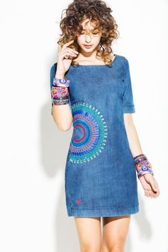 This one will look great on her :) - Herren- und Damenmode - Kleidung Cute Dresses, Short Dresses, Denim Fashion, Womens Fashion, Street Fashion, Latest Fashion, Fashion Trends, Mode Jeans, Denim Ideas