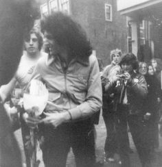 Brian with gifts from fans at the hotel in Amsterdam.