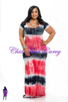 Want to be uber comfortable, yet Sexy, Chic And Curvy for Memorial Day Weekend! We have the perfect dress - the Plus Size Short Sleeve Maxi Dress Tie Dye Dark Blue, White, Red at http://chicandcurvy.com/bodycons/product/9877-new-plus-size-short-sleeve-maxi-dress-tie-dye-red-white-dark-blue-1x-2x-3x   Model: Janna Plus Model Photographer: Lesley Pedraza Photography Mua: Make Me Blush - Makeup By Jillian Bianca Hair: Tiffany Brooks