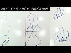Tutorial de Modelagem- Preparando Bojo,2 Modelos de Biquíni e Maiô - YouTube