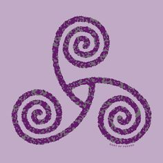 Represents the drawing of the three powers of maiden, mother and crone. It is a sign of female power and especially power through transition and growth.