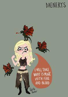 Daenerys Targarien / Stormborn / Khalessi from #gameofthrones #juegodetronos by Pedrita Parker