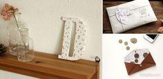 Con la tela adhesiva de Dailylike puedes forrar unas letras, así como todo tipo de objetos, ¡será facilísimo y muy decorativo!