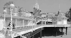 The West Pier in Brighton East Sussex England before it closed in 1975
