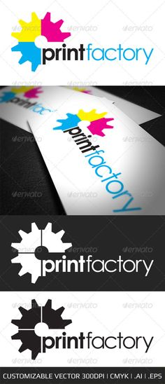 Buy Print Factory Logo Template by ABSDC on GraphicRiver. Print Factory Logo Template This is a stylish vector logo template that is easy to use and fully customizable. Industry Logo, Logo Templates, Fonts, Menu, Black White, Symbols, Letters, Easy, Logos
