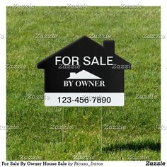 Shop For Sale By Owner House Sale Sign created by Ricaso_Intros. Personalized Products, Customized Gifts, For Sale Sign, Sale Signs, Corner Designs, Sign Design, Create Your Own, Candy Jars, House