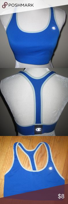 Blue Champion Sports Bra Size LARGE Only worn a few times and in VGUC. Smoke and pet free home! Champion Intimates & Sleepwear Bras