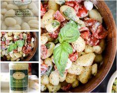 creamy caprese pasta salad using Archer Farms potato gnocchi and basil pesto cream