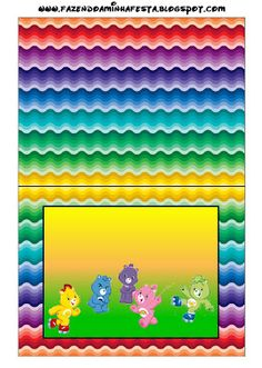 {free} carebear party printables. Right click and save as