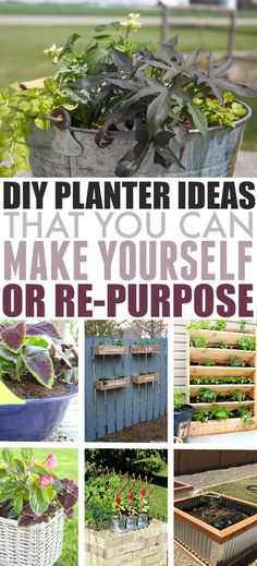 DIY Garden Planters | The Creek Line House #Planters #Gardening #DIYPlanters #GardenPlanters #FlowerPots