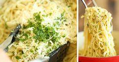Špagety s česnekem a parmezánem hotové do 20 minut