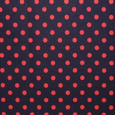 SB Basic Dots Red on Navy Blue 1/2 METRE - view 1