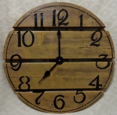 21 Inch RUSTIC RECYCLED Wall CLOCK from a Discarded Pier with Black Hand Cut Metal Numbers by ClocksByHomestead on Etsy