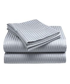 This Slate Blue Embossed Microfiber Sheet Set is perfect! #zulilyfinds
