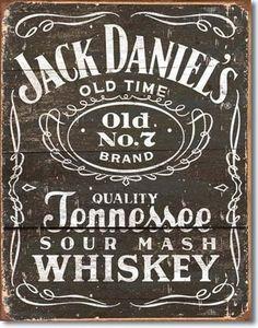 Jack Daniels Whiskey Tin Metal Sign