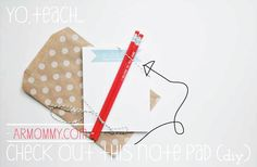 DIY Note Pad for a teacher gift!  :: by armommy