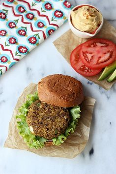 Cauliflower Lentil Veggie Burger - Gluten-free + Dairy-free by Tasty Yummies, via Flickr