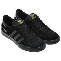 cool adidas trainers black