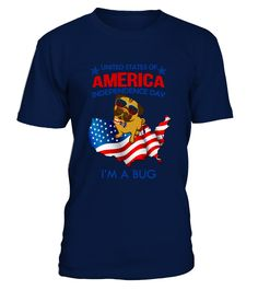 AMERICA INDEPENDENCE DAY BUG- white  Independence Day T-shirts