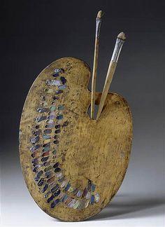 Paletas e ferramentas de grandes artistas