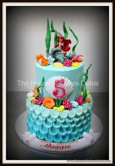 buttercream ariel cake